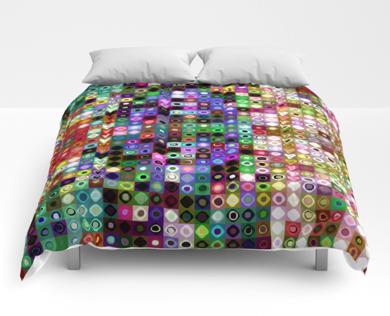 Colorful Shapes Pattern Comforter