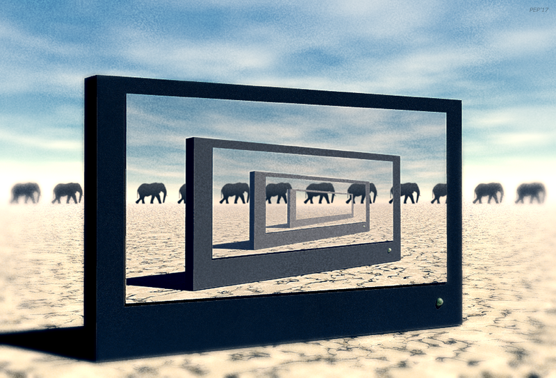 Surreal Desert Elephants