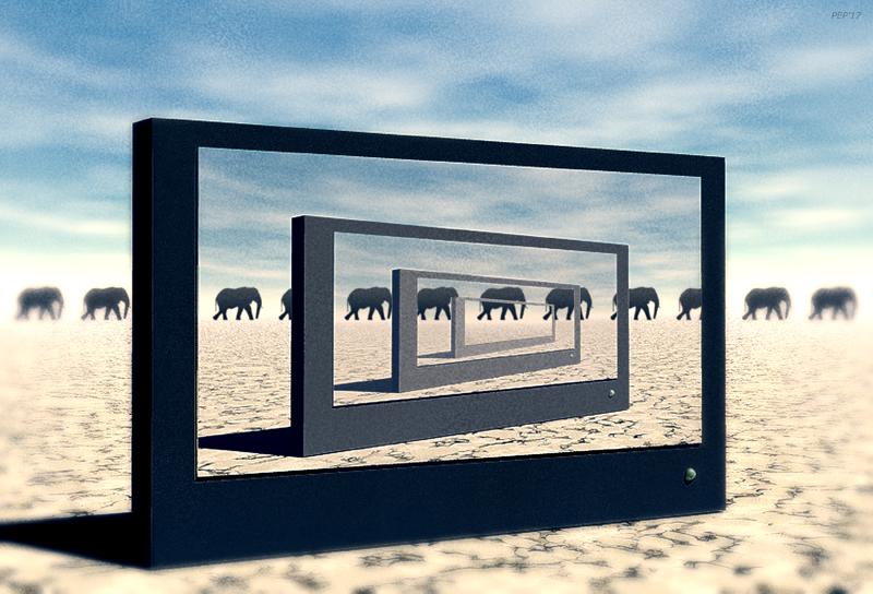 Surreal Desert Elephants
