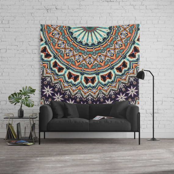 Colorful Sun Pattern Wall Tapestry