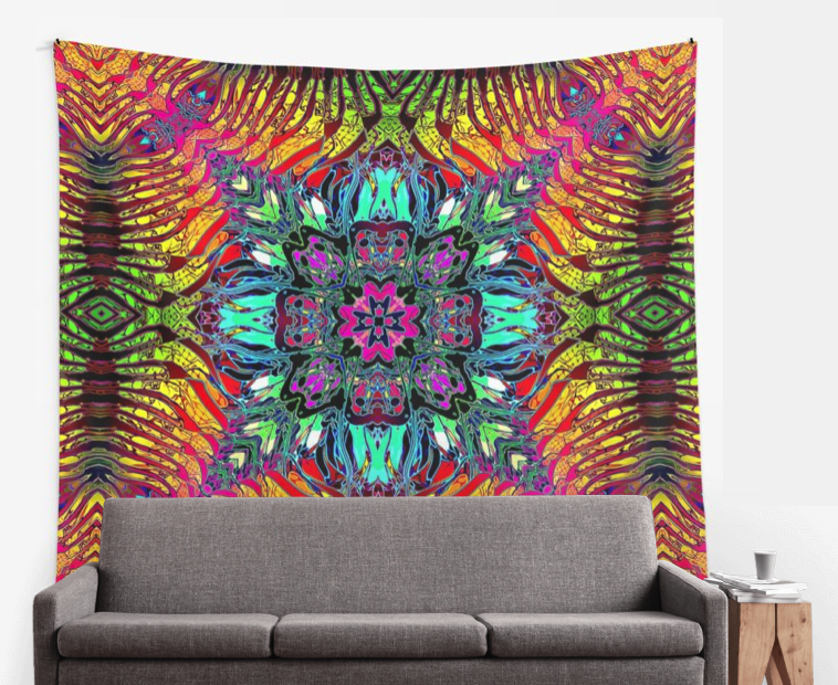 Abstract Spectrum of Symmetry Wall Tapestry