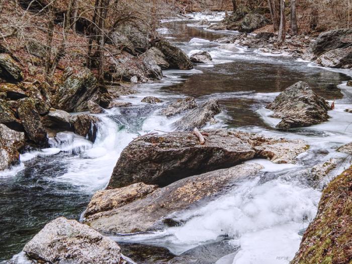 Rocky River In Winter