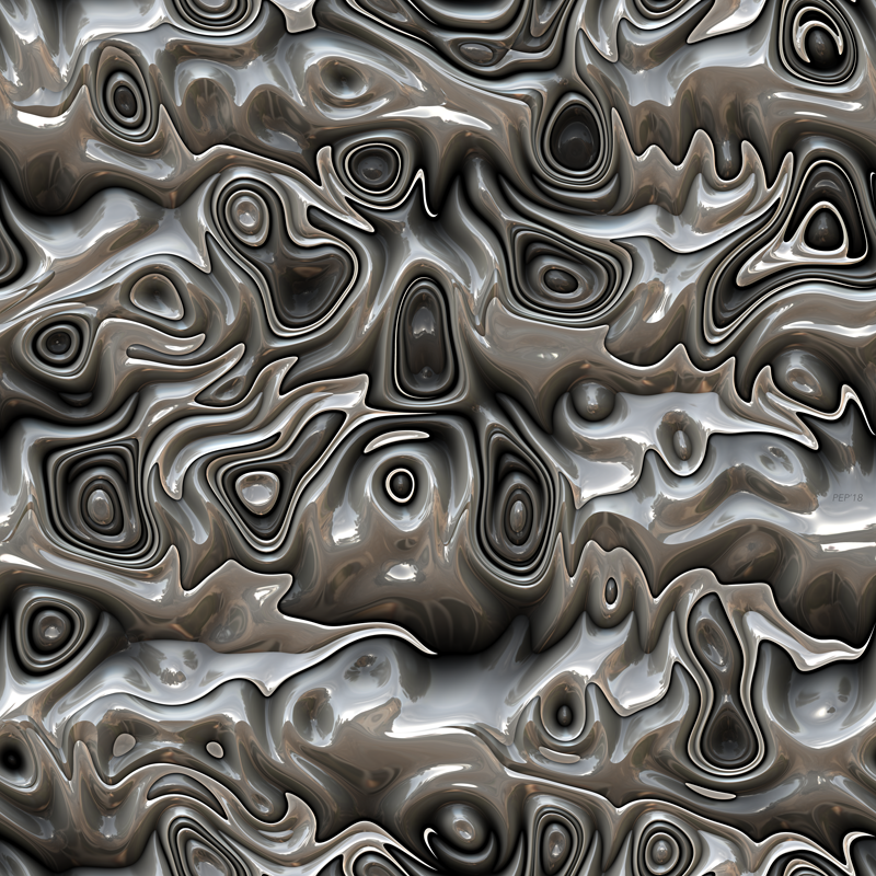 Abstract Warped 3D Surface