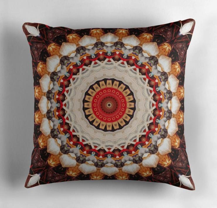 Garlic And Yarn Throw Pillow