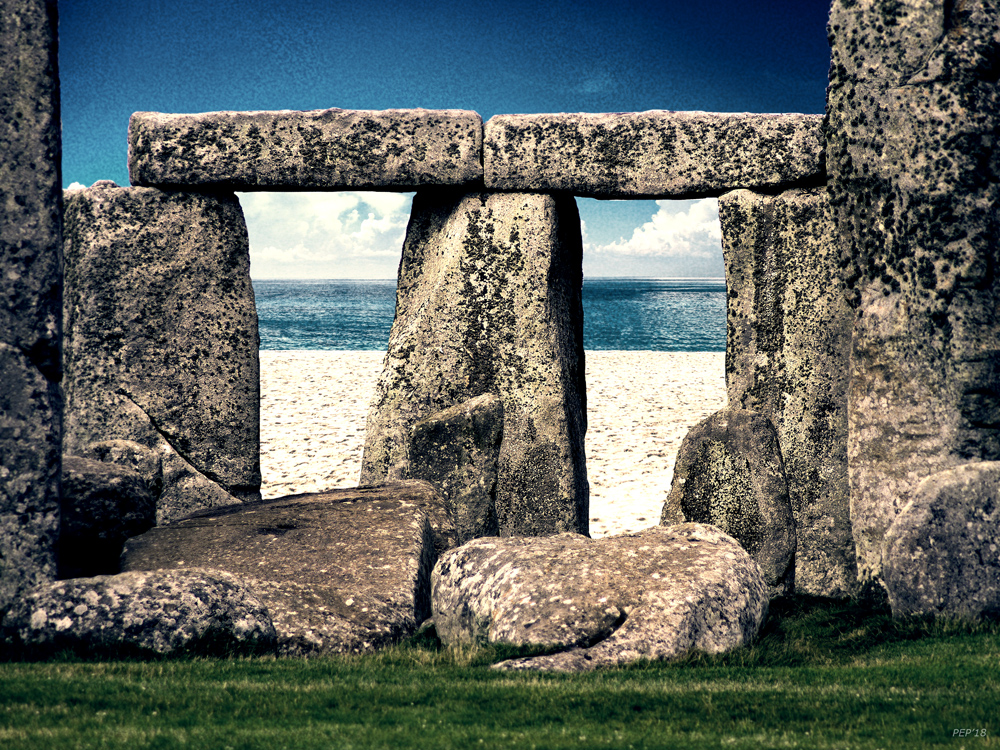 Stonehenge On The Beach