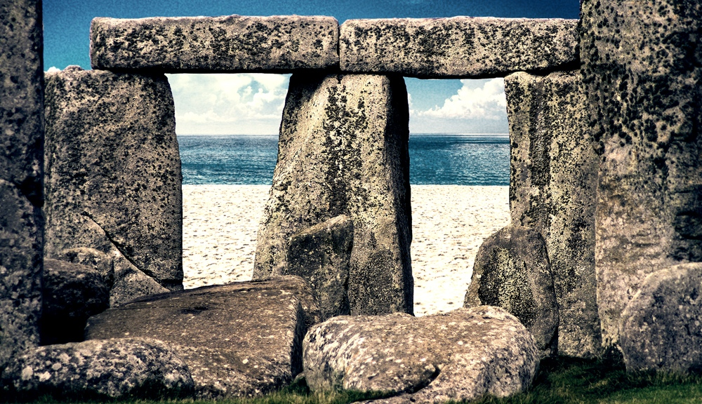 Stonehenge On The Beach