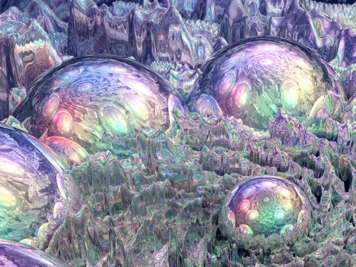 Reflecting Spheres In Space