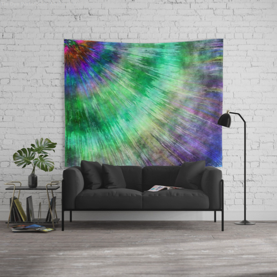 Tie Dye Watercolor Wall Tapestry