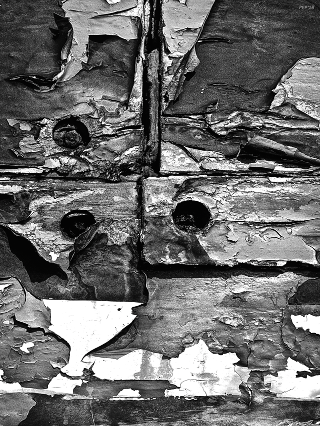 Black And White Peeling Paint