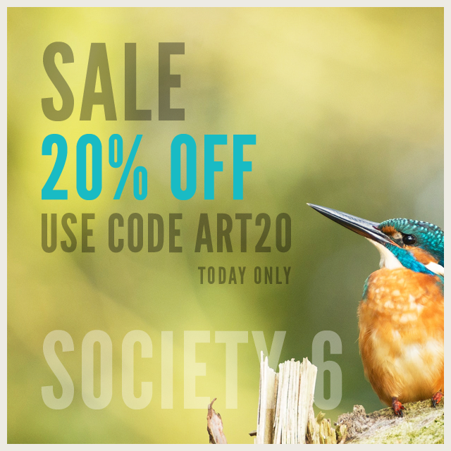 Sale 20% Off Everything Today #Society6