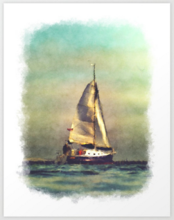 A Sailboat At Sea