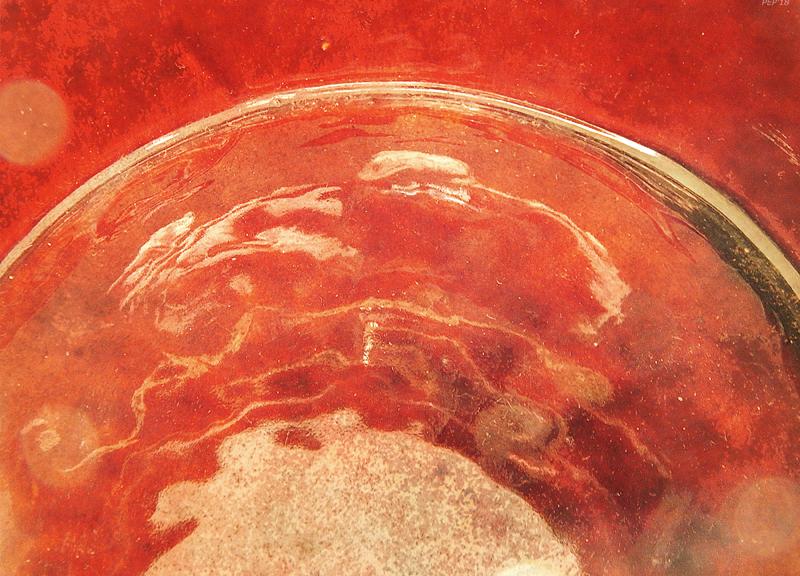 Reflections of Orange Ceramic