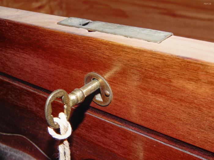 Vintage Cedar Chest And Key