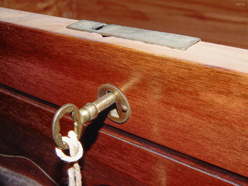Vintage Cedar Chest And Key