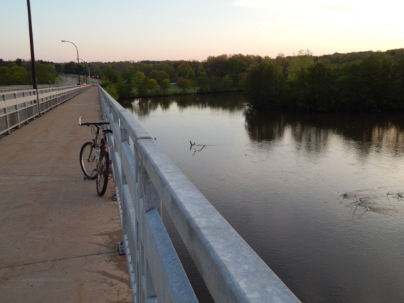 My Bike Parked On Bridge