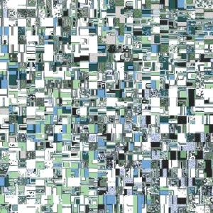 Green And Blue Geometric Pattern
