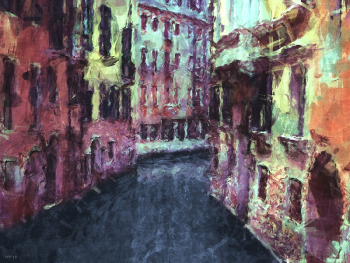 Buildings Along A Venice Canal
