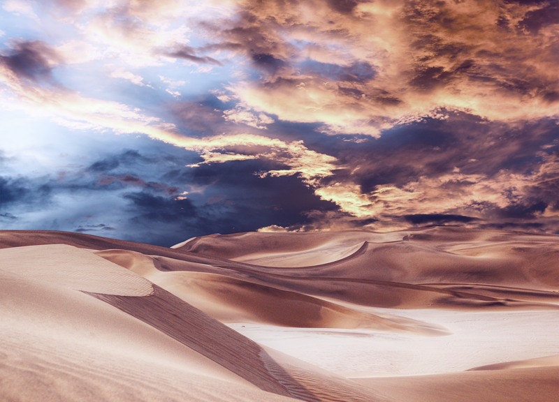 Golden Sand And Clouds