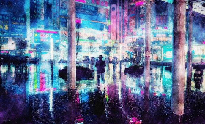Rainy Night In South Korea