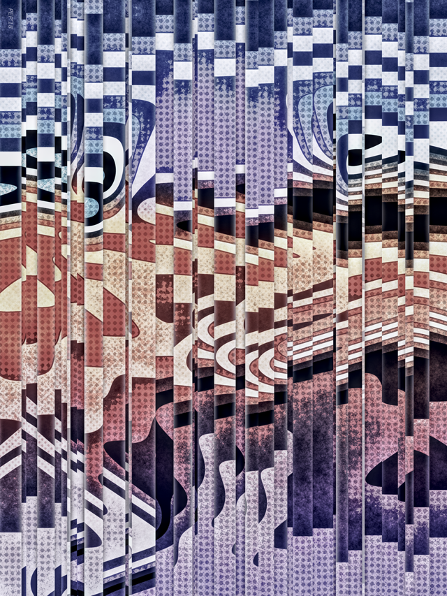Abstract Halftones Graphic Collage