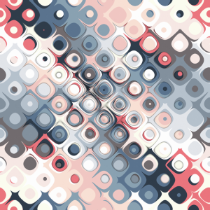Abstract Pastel Shapes Pattern