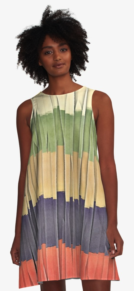 Colorful Summer A-line Dress