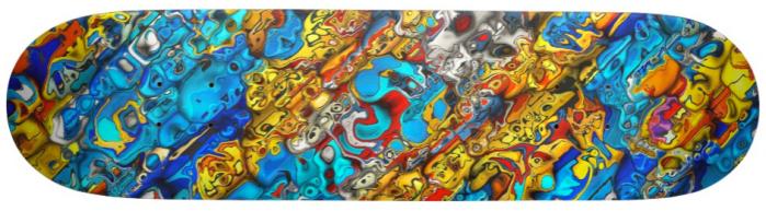 Chaotic 3D Pattern Skateboard