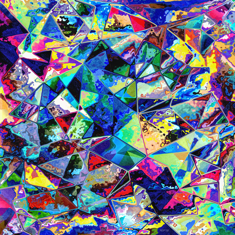 Chaotic Geometry of Colors