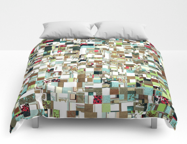 Geometric Textured Jumble Comforter