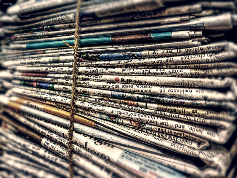 A Bundle of Newspapers