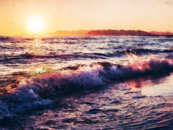 Ocean Landscape Sunrise