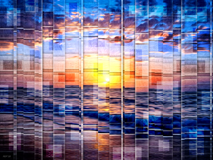 Vibrant Geometric Sunset