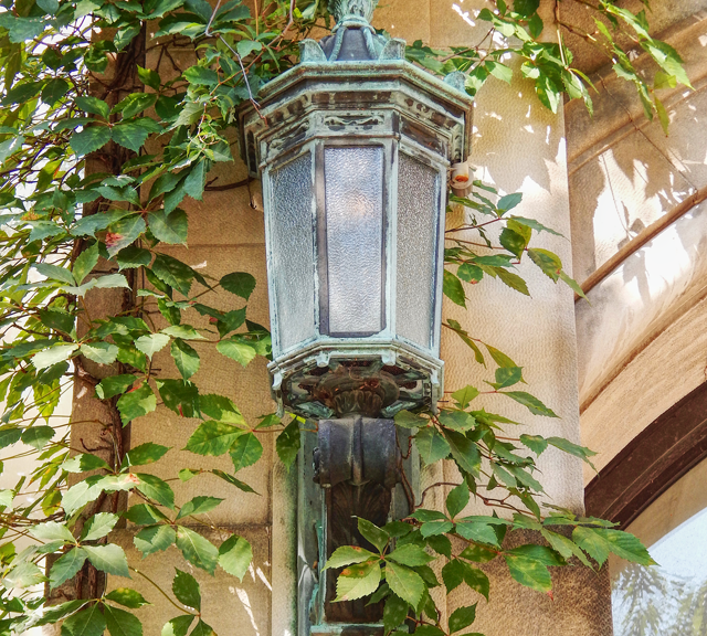 Lantern Light With Ivy