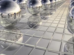 400 Silver Spheres