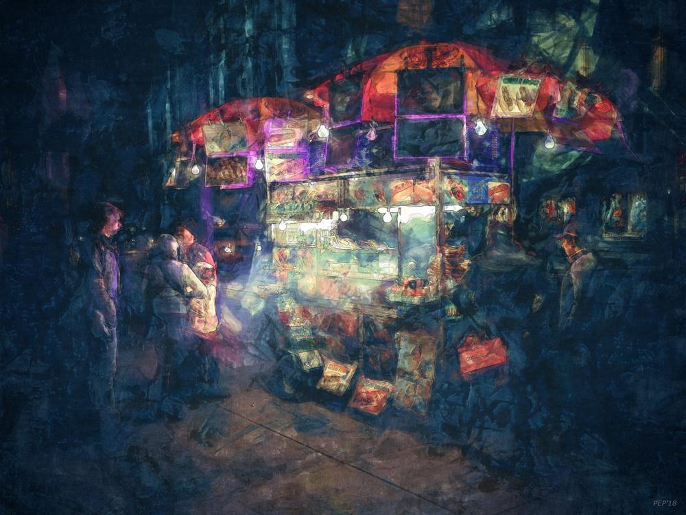 Street Vendor Food Stand