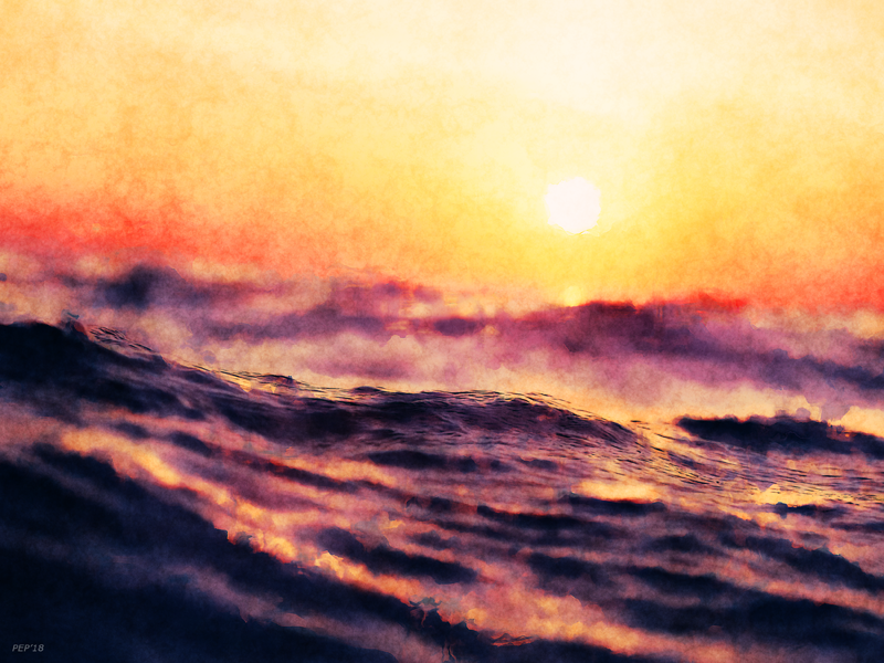 Waves At Sunrise