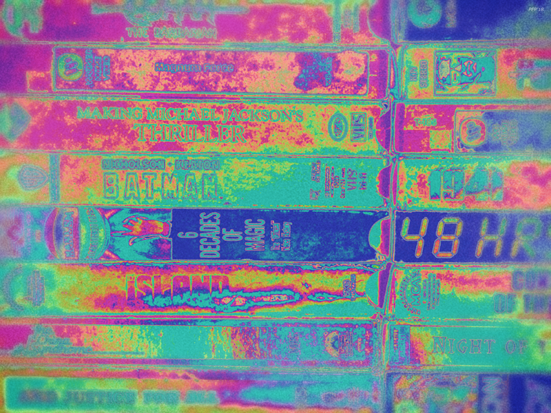 Pop Art VCR Tapes