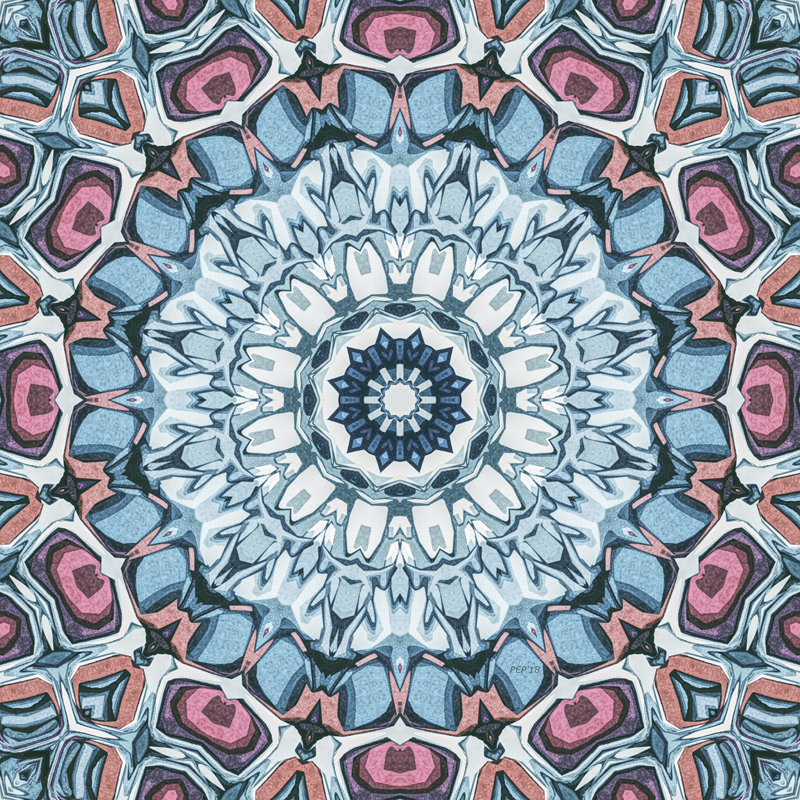 Abstract Textured Kaleidoscope