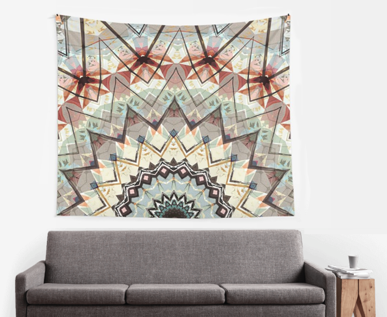 Abstract Earth Tones Wall Tapestry