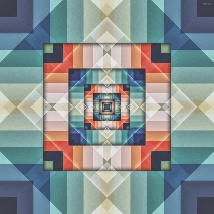 Geometric Box of Colors