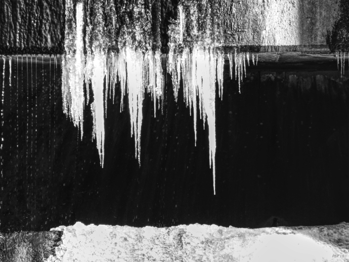 Black And White Icicles