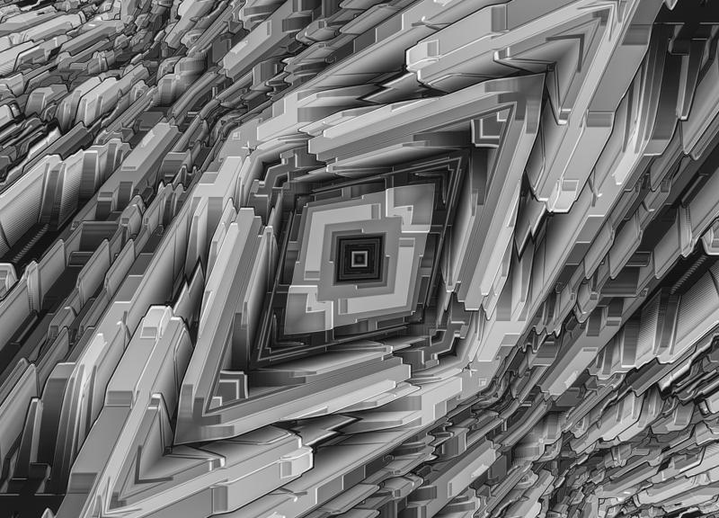 Futuristic Metallic Structure