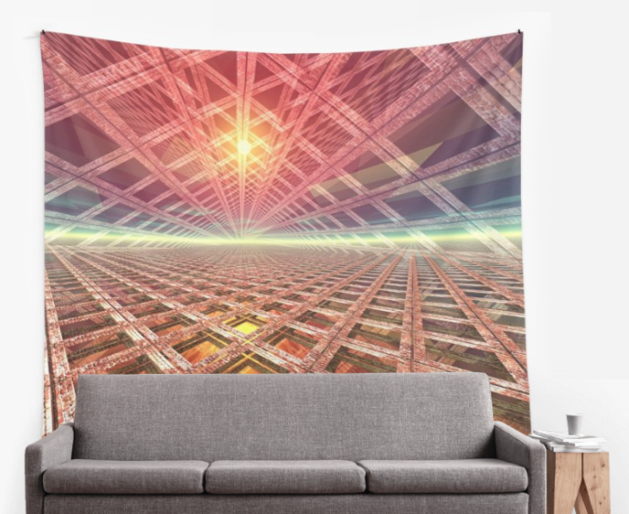 Space Portal Wall Tapestry