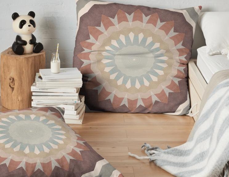 Earth Tones Floor Pillow