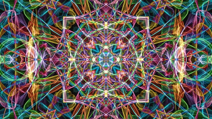 Colorful Spirographic Abstract