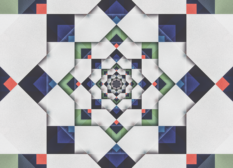 Pattern of Textured Squares
