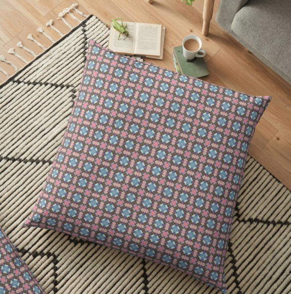Checkered Pattern Floor Pillow