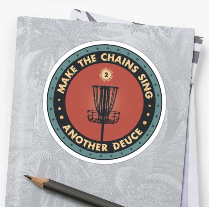 Frisbee Disc Golf Stickers