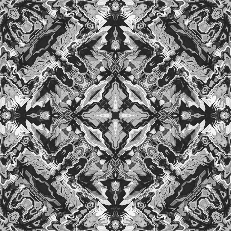 Black And White Geometric Aztec Pattern