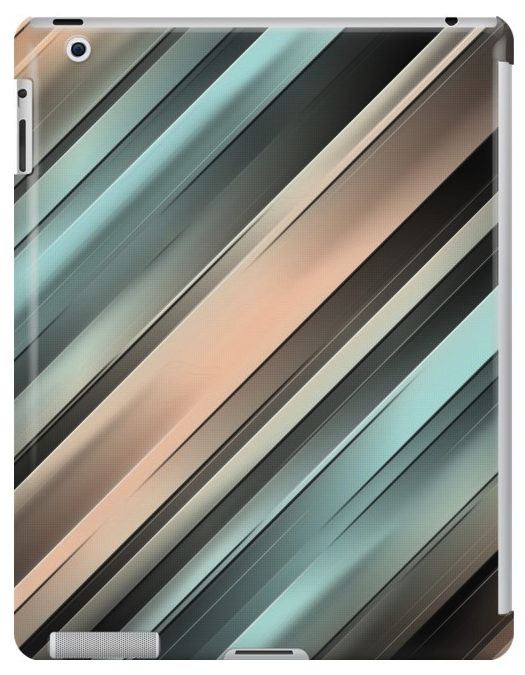 Gradient Stripes iPad Case